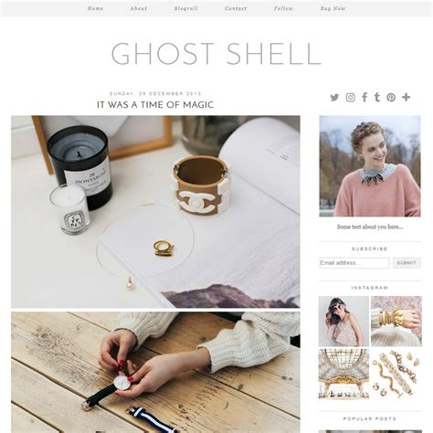 Blog Layout Ghost | ghost shell a modern and minimal blogger template by pipdig