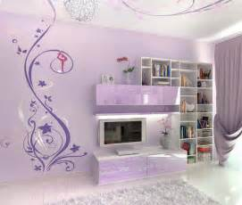 Teenage bedroom ideas with wall mural interior design