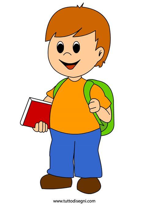 disegni bambini primo giorno di scuola bambino con zaino tuttodisegni
