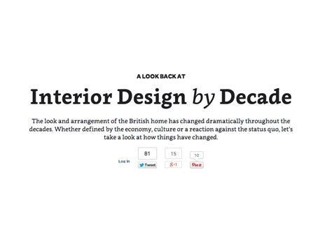 design brief sentence a history of interior design from 1950 to 2010 in 18