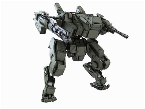 Mecha Model 3d model mech fighter 2 cgtrader