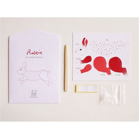 Diy Handmade Paper - diy handmade paper animal puppet kit by toothpic nations