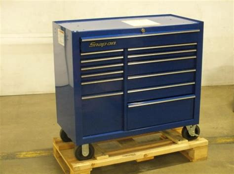 snap on blue 13 drawer rolling tool cabinet cart chest box