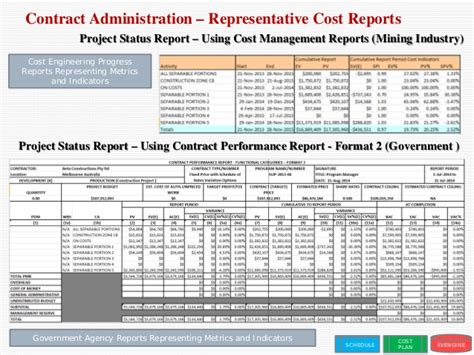 Contract Management Reporting Template