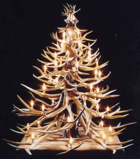 antler christmas tree antler christmas trees pinterest