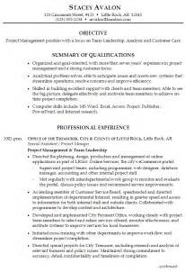 Example Resume Objective by Resume For Project Management Susan Ireland Resumes