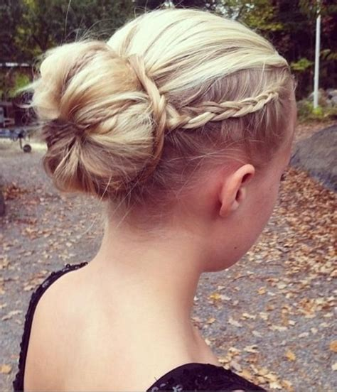 put your hair in a bun with braids 10 braided buns for weddings