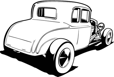 Hot Rod Clipart Cliparts Co Rat Rod Coloring In