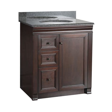 bathroom vanities with drawers on left side foremost shawna 30 in single bathroom vanity with left