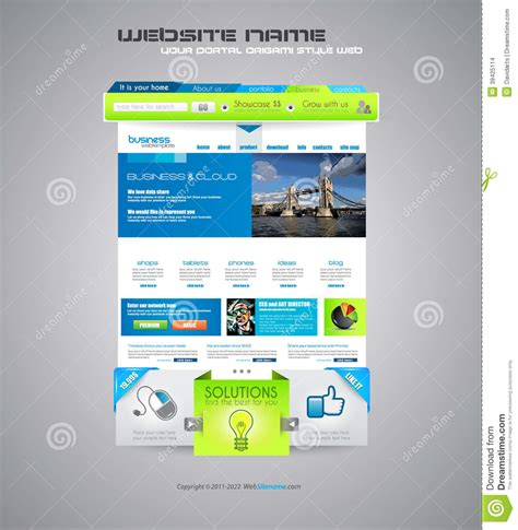 Modern Website Template Stock Vector Image 39425114 Modern Business Website Templates
