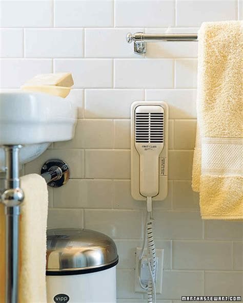 Hair Dryer In A Bathtub 25 bathroom organizers martha stewart