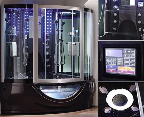 aquapeutics luxury steam shower with waterproof tv radio