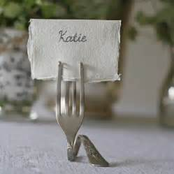set of four fork place card holders by the wedding of my dreams notonthehighstreet