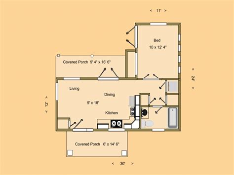 Small House Plans 500 Sq Ft Small House Plans Small House Floor Plans 500