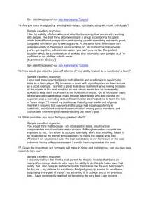 Sample Essay Question For Job Interview The Reivers Guide The Definitive Resource Centre For The