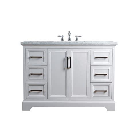 48 vanity top with sink stufurhome 48 in ariane single sink vanity in white with