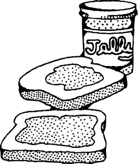 Pb J Coloring Pages by Peanut Butter And Jelly Sandwich Clip At Clker