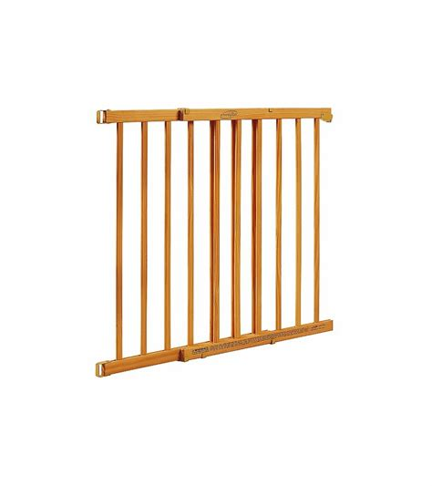 evenflo home dcor top of stair gate honey oak stain