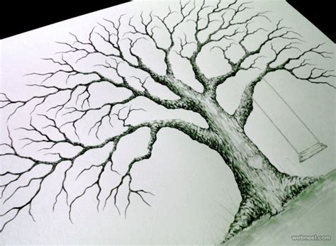 tree drawing 30 beautiful tree drawings and creative ideas from top