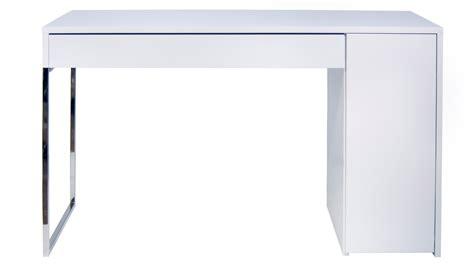 white and chrome desk zoe desk zuri furniture