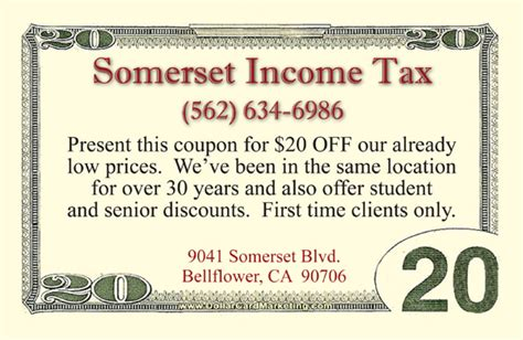 Tax Preparer Business Cards