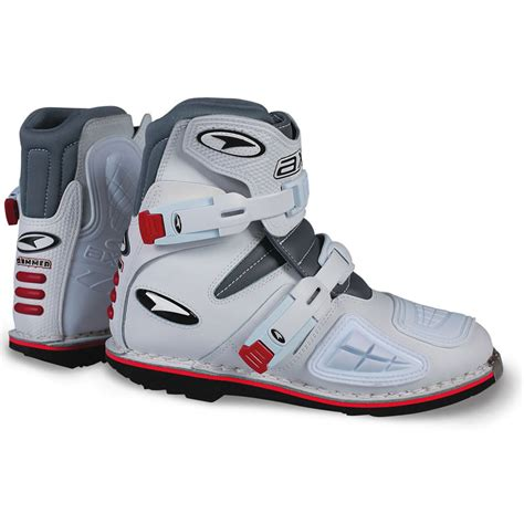white motorbike boots axo slammer short enduro pit bike atv motocross motorcycle