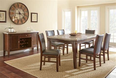 dallas designer furniture eileen marble top dining room set