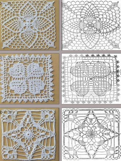 piastrelle uncinetto per coperte uncinetto 3 piastrelle quadrate con schema