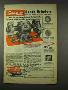 snap on bench grinder 1948 snap on bench grinder ad powerful operation