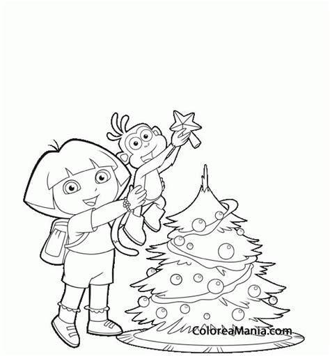 colorear y botas adornan el rbol de navidad la