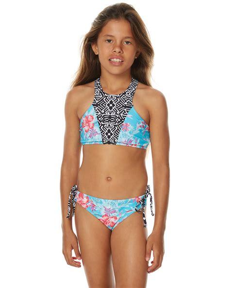 bikinis kids rip curl kids girls del mar halter bikini aqua surfstitch