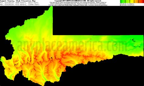 utah elevation map free summit county utah topo maps elevations