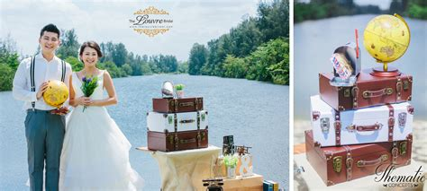 Wedding Concept Singapore by Styled Wedding Photoshoot Travel Theme For Your Singapore