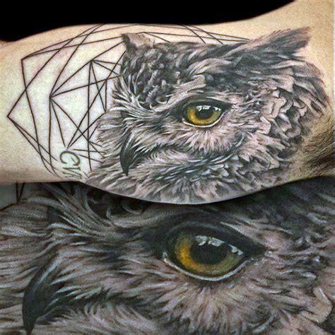 owl eyes tattoo 30 realistic owl tattoos ideas