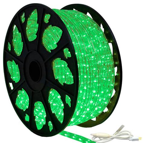 Outdoor Led Rope Lighting 120v 120v Dimmable Led True Green Rope Light 150 Kit Modern Outdoor Rope And String Lights By