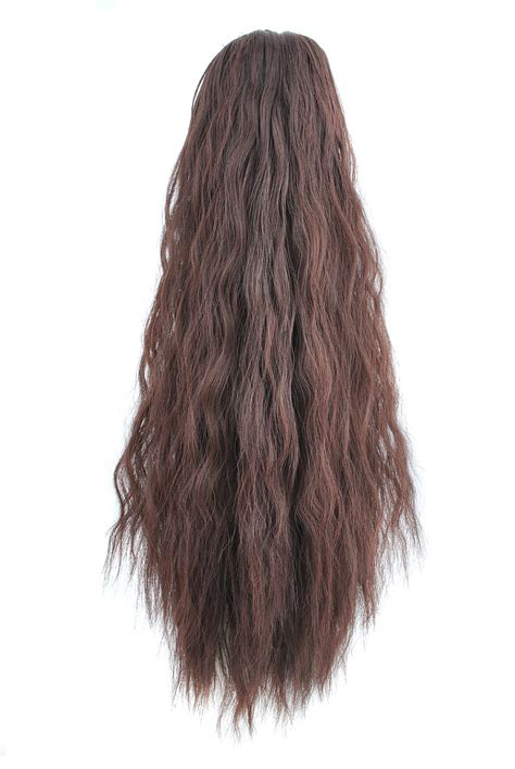 how to install clip in extensions on corn roll hair woman corn stigma hairpiece curly claw clip ponytail pony