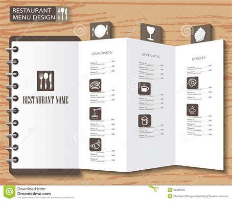 menu layout design templates menu design stock vector image of coffee diner clean
