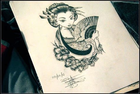geisha tattoo design by stephanie isidro by