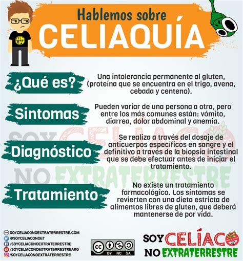 celiaquia  es cuales son sus sintomas como se diagnostica  se trata