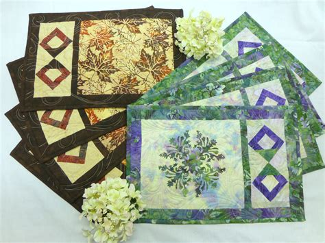 Quilting Placemat Patterns by Simply On The Edge Placemat Pattern
