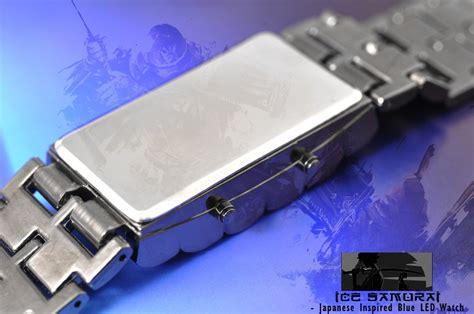 Arloji Led Biru Metal Silver by Jam Tangan Original Jam Tangan Iron Samurai Led Merah