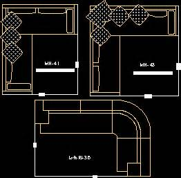 sofa cad sofa ri 38 sofa mn 43 sofa mn41 in autocad drawing sofa