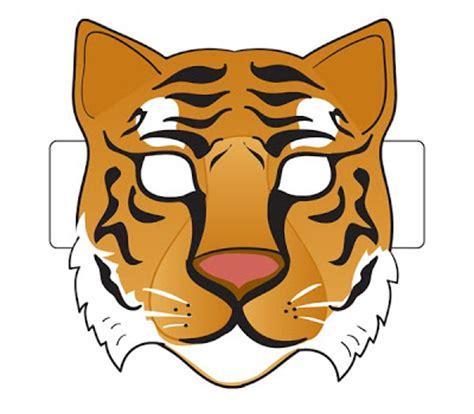 printable tiger mask template spin on creativity free printable animal masks