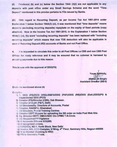 tds deduction section sb order no 13 2015