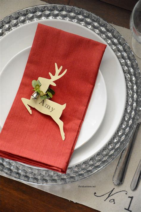 christmas place settings christmas place cards the idea room