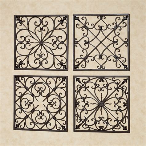 metal wall grilles decor lachandra antique rust iron square wall grille set