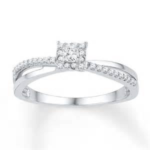 promise rings promise ring 1 5 carat tw 10k white gold