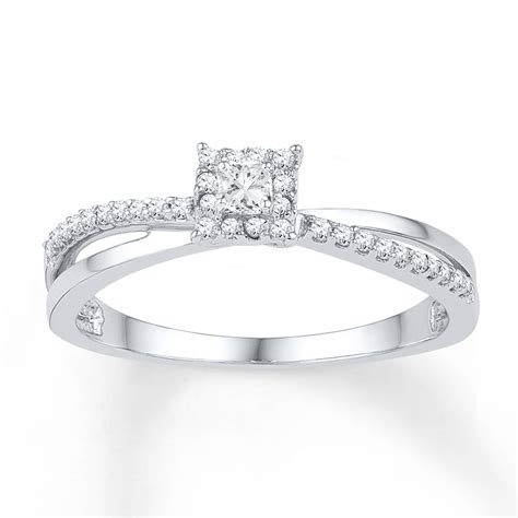 jared promise ring 1 5 carat tw 10k white gold