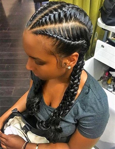 black hairstyles pictures french braids incredible boho chic protective style french braids