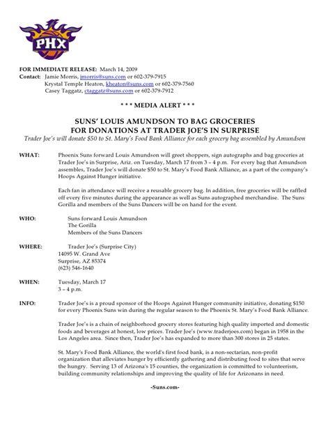 non profit press release template sle press release for suns